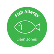 .Personalised School Labels Fish - Carnival - Labels Allergy 30 labels free shipping