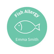 .Personalised School Labels Fish- Confetti - Labels Allergy 30 labels free shipping