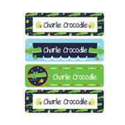 Personalised School Labels Crocodile - Labels IRON-ONS 48 labels free shipping