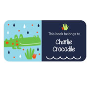 Personalised School Labels Crocodile - Book Labels Vinyl 40 labels free shipping