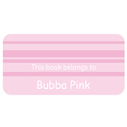 Personalised School Labels Bubba Pink - Book Labels Vinyl 40 labels free shipping