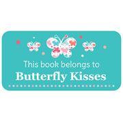 Personalised School Labels Butterfly Kisses - Book Labels Vinyl 40 labels free shipping