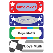 Personalised School Labels Boys Multi - Labels Vinyl Essentials 46 labels free shipping