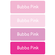 Personalised School Labels Bubba Pink - Labels Vinyl Essentials 46 labels free shipping