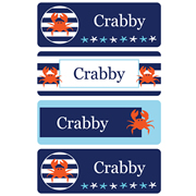 Personalised School Labels Crabby - Labels Vinyl Essentials 46 labels free shipping
