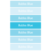 Personalised School Labels Bubba Blue - Labels Vinyl Jumbo 52 labels free shipping