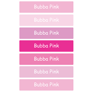 Personalised School Labels Bubba Pink - Labels Vinyl Jumbo 52 labels free shipping