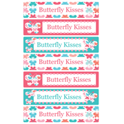 Personalised School Labels Butterfly Kisses - Labels Vinyl Jumbo 52 labels free shipping