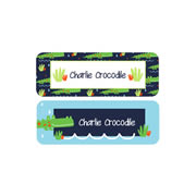 Personalised School Labels Crocodile - Labels Vinyl Essentials 46 labels free shipping