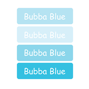 Personalised School Labels Bubba Blue - Labels IRON-ONS 48 labels free shipping