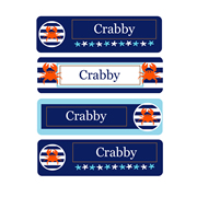 Personalised School Labels Crabby - Labels IRON-ONS 48 labels free shipping