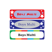 Personalised School Labels Boys Multi - Labels Vinyl Mighty 48 labels free shipping