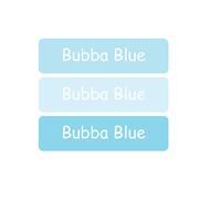Personalised School Labels Bubba Blue - Labels Vinyl Mighty 48 labels free shipping