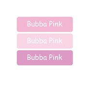 Personalised School Labels Bubba Pink - Labels Vinyl Mighty 48 labels free shipping