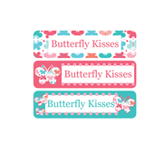 Personalised School Labels Butterfly Kisses - Labels Vinyl Mighty 48 labels free shipping