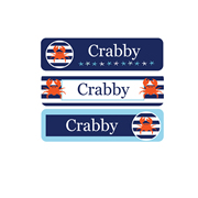 Personalised School Labels Crabby - Labels Vinyl Mighty 48 labels free shipping