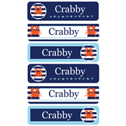 Personalised School Labels Crabby - Labels Vinyl Mighty 96 labels free shipping