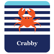 Personalised School Labels Crabby - Shoe Labels 15 pairs free shipping