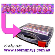 Personalised Loom Band Storage Carry Case - Personalised with your name - Shopkins Design - Purple