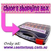 Personalised Loom Band Storage Carry Case - Personalised with your name - Shopkins Design - Pink