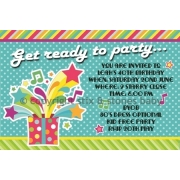 40th Bright Stars Retro Birthday Invitation Personalised