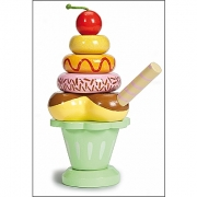 Ice Cream Sundae Wooden Stacking Toy by Le Toy Van 1 left