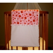 Pram/Cot Blanket Cherries Also available in over 40 fabric designs