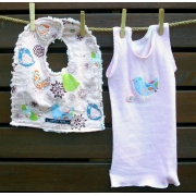 Bib & Singlet Set - Starling Bird