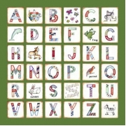 Canvas Alphabet - GIRLS AnimalsAvail. in 20 different colours