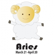 Personalised ClothingStarsign Aries March 21 - April 20 DesignAvailable in a t-shirt, bib, bodysuit, singlet, apron, santa sack, library bag & shoulder bag
