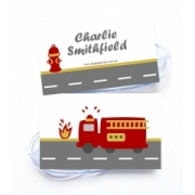 Fire Engine - Bag Tag