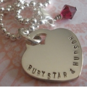 Big Love Stamped Necklace