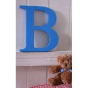 .Custom Made Thick Wooden CAPITAL Letters - Painted25mm thick, 30 cm tall8 colours availablethe largest in our range