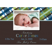 Christening Invitation 'Blue Pear'