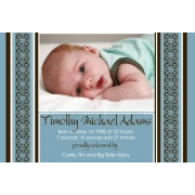 Christening Invitation 'Musk Blue'