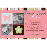 Christening Invitation 'Butterfly Lane'