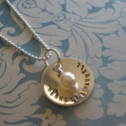 Cherish Stamped Necklace
