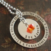 Circle of Love Stamped Necklace
