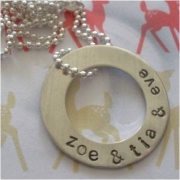 Circlet Stamped Necklace