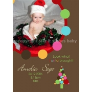 Christmas Card/Christmas Announcement'Santa's Gift'