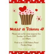 Cupcake Birthday Invitation 2 Personalised