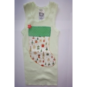 Christmas Clothing Singlet - Lime Stocking Size 0Last one left!