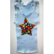 Christmas Clothing Singlet - Blue Star Size 000Last one left!