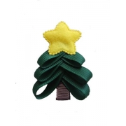 Hair Clip - Christmas Tree Clippies (Single)