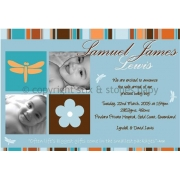 Christening Invitation 'Dragonfly Lane'
