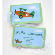 Orange Plane - Luggage Tag