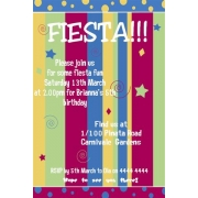 Fiesta Birthday Invitation Personalised