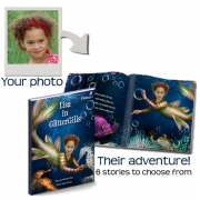 Personalised Book using your child's name & photo'Glitter Gills' Mermaid story