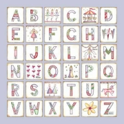 Canvas Alphabet for kids - GIRLS Carousel