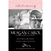 Christening Invitation 'Baby Vines - Black'